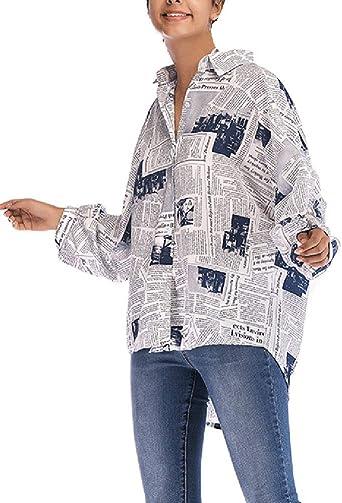 Mujer Blusas Superiores Elegante Moda Vintage Camisas Tops ...