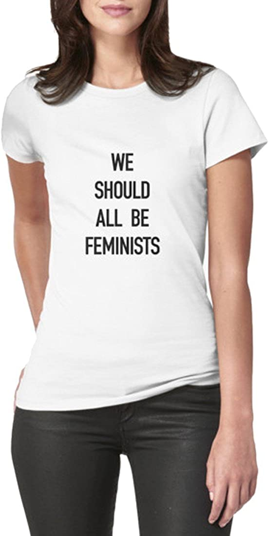 QIYUN.Z Camisetas De Manga Corta De Verano De Las Mujeres Carta We Should All Be Feminists