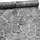 ZeroStage 11 Yard Stone Wallpaper Peel and Stick Removable Castle Tower Brick Rock Wall (Fortress Stone)