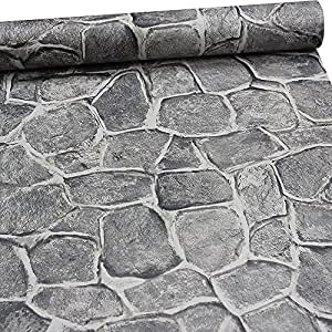 11 yard stone wallpaper peel and stick removable castle tower brick