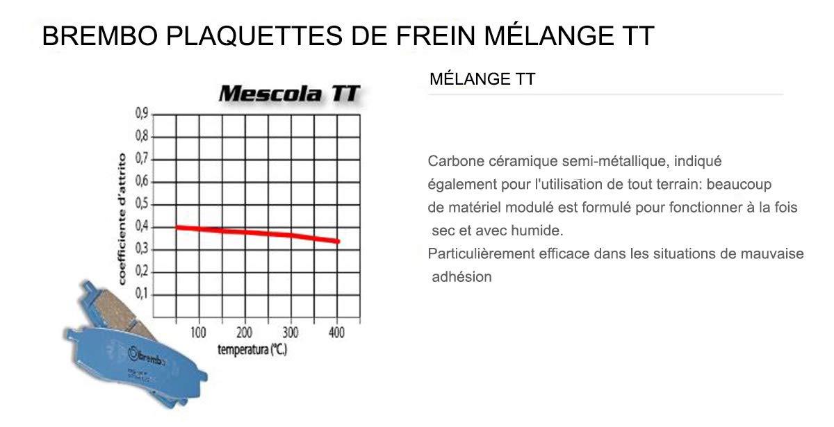 07BB04.TT Plaquettes Brembo Frein Anterieures TT pour Ktm EXC F 250 2006  2008