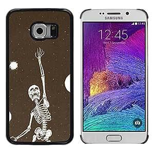 Paccase / SLIM PC / Aliminium Casa Carcasa Funda Case Cover - Skeleton Vignette Dream Deep Meaning - Samsung Galaxy S6 EDGE SM-G925