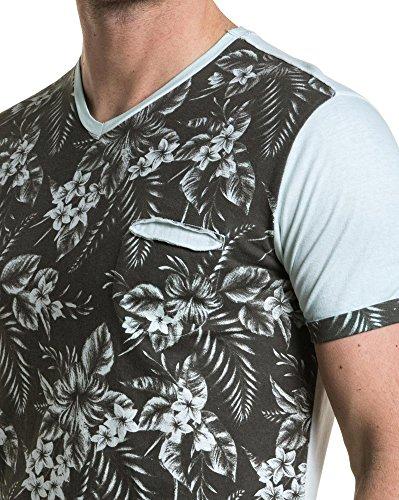 Vert Poche Pastel shirt Poitrine Imprimé Fleuri People Bleu American T Avec PBqxwptH
