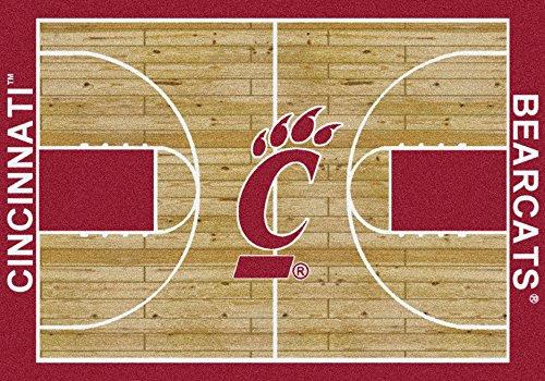 Cincinnati Bearcats Home Court Rug Cincinnati Bearcats (Lane Color: Red)