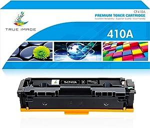 True Image Compatible Toner Cartridge Replacement for HP 410A CF410A CF410X 410X 410 Laserjet Pro MFP M477fdw M477fdn M477fnw M452nw M452dw M452dn M477 M452 (Black, 1-Pack)
