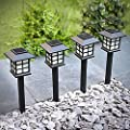Sogrand Solar Lights Outdoor Pathway Decorative Garden Stake Light Upgraded Warm White LED Brgiht Decorations Stakes Walkway Lamp for Patio Outside Landscape Driveway Path Yard 8Pack