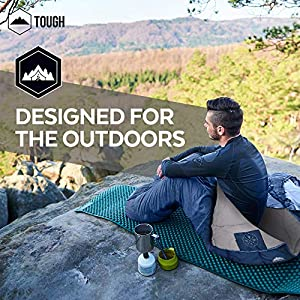 Tough Outdoors All Season Hooded XL Sleeping Bag with Compression Sack - Perfect Compression Sleeping Bag for Backpacking & Camping - Big and Tall Sleeping Bag