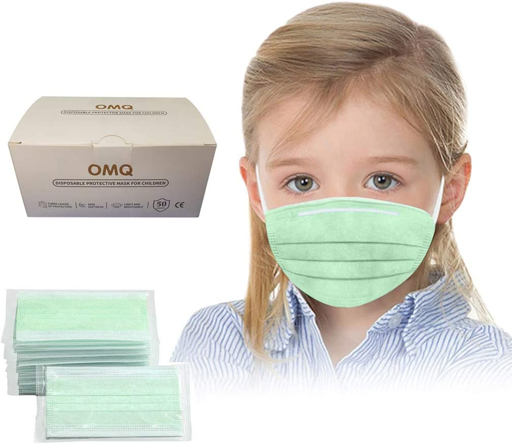 JIekyoi 100PC 𝙈á𝙨𝙘𝙖𝙧𝙖 Empaquetado Individualmente, Desechable Niño Niña 𝐌𝐚𝐬𝐜𝐚𝐫𝐢𝐥𝐥𝐚𝐬 Facial Cubrir Boca Nariz Protege Protección Facial Dispositivo Transpirable Cómodo Salud Facial