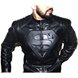 HugMe.fashion Real Genuine Sheep Leather Superman Leather Jacket JK123
