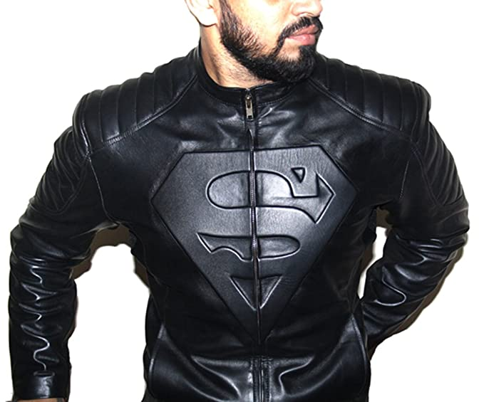 60f969bef HugMe.fashion Men s Leather Real Sheep Superman Jacket  Amazon.in ...