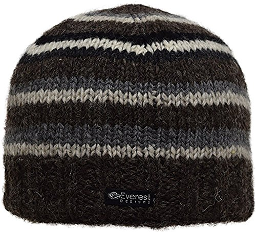 Everest Designs Unisex Half Pipe Beanie, Gray, One Size