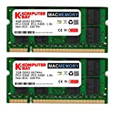 4gb pc2 5300 - Komputerbay MACMEMORY 6GB Kit (4GB + 2GB Modules) PC2-5300 667MHz DDR2 SODIMM for Apple iMac MacBook Pro