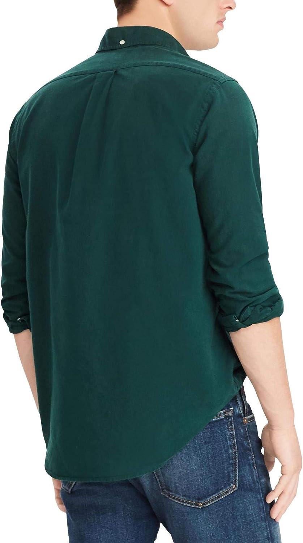 6X Big, CollegeGreen Polo Ralph Lauren Mens Big and Tall Long Sleeves Classic Fit Oxford Buttondown Shirt