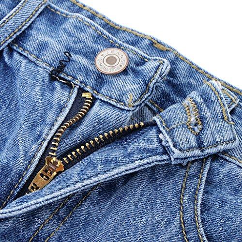s Mini en bleu clair en jean jupe jupe Mini jean Homyl en dames xl demin CPqppx