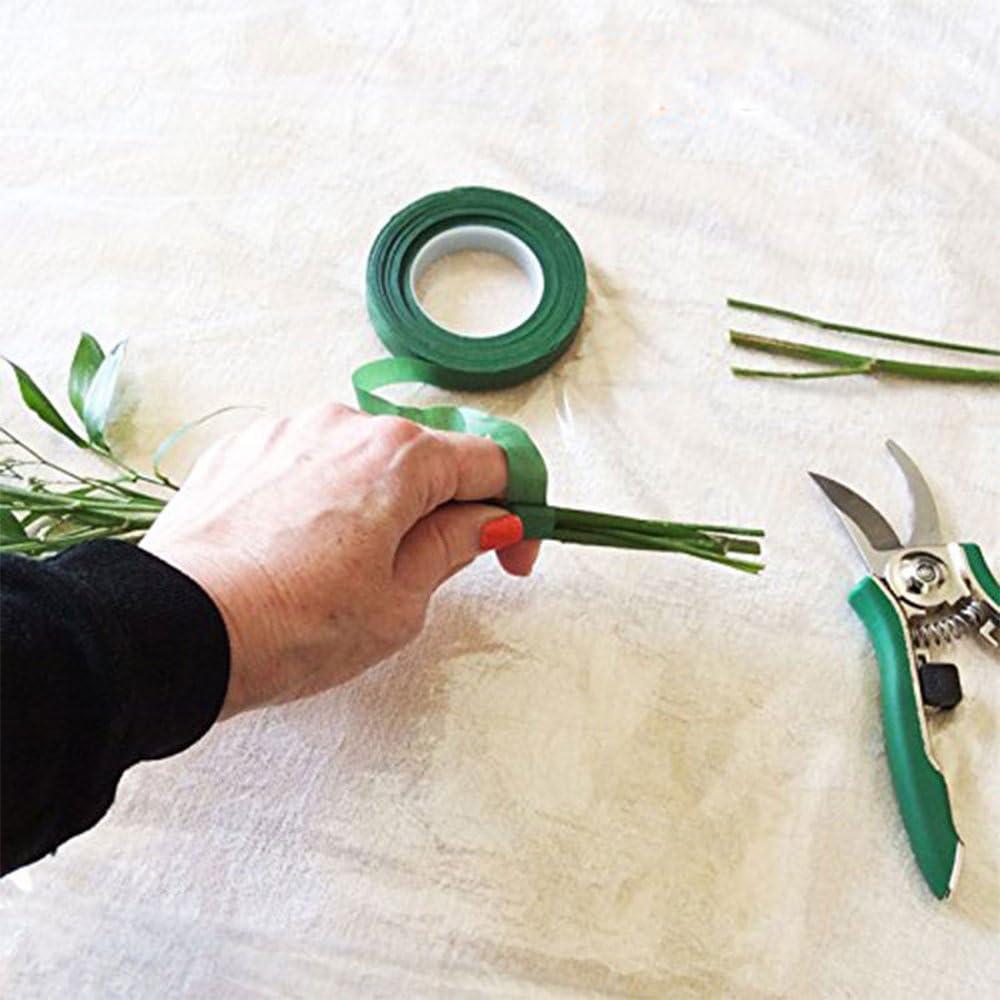 Green Fleuriste Tige de Fixation Wrap Ruban Vert Wrap Ruban Adh/ésif pour Bouquet de Fleurs TJW 2/Rouleaux 30/M/ètres de Ruban Adh/ésif Floral Papier Cr/épon 2 Rolls