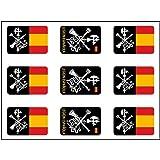 Artimagen Pegatina rectángulos Logo Legión 9 uds. 16x11 mm/ud.