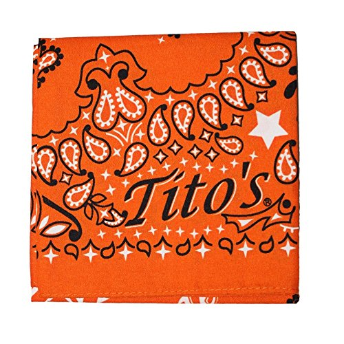 Orange Vodka - Tito's Vodka Bandana - Orange