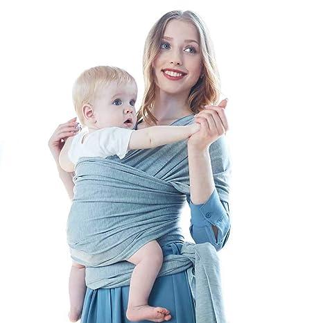 560c796dc ZUMECA Fular Portabebé Unisex, Multiuso Porta bebé Elástico Pañuelo de algodón  para Madre y Padre
