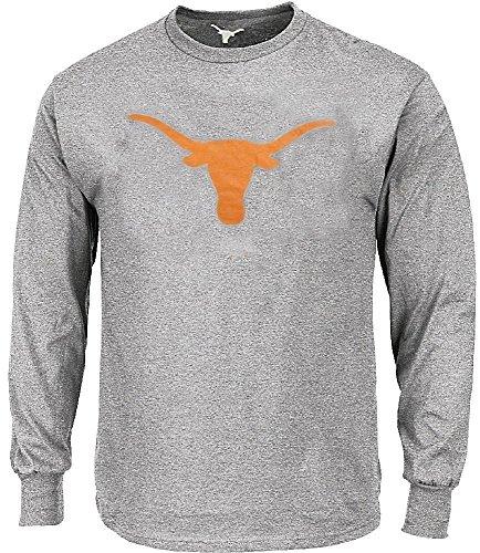 289c apparel Texas Longhorns Mens Grey Silhouette Long Sleeve Tee Shirt (X-Large)