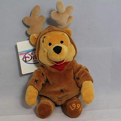 Reindeer Pooh - Disney Mini Bean Bag Plush: Toys & Games