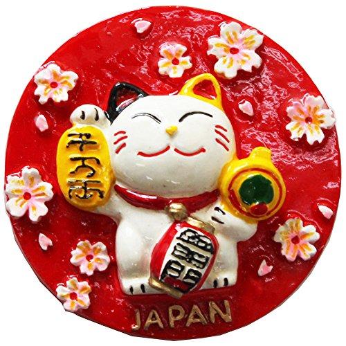 (Japanese Manekineko (Beckoning Cat) Design Magnet)