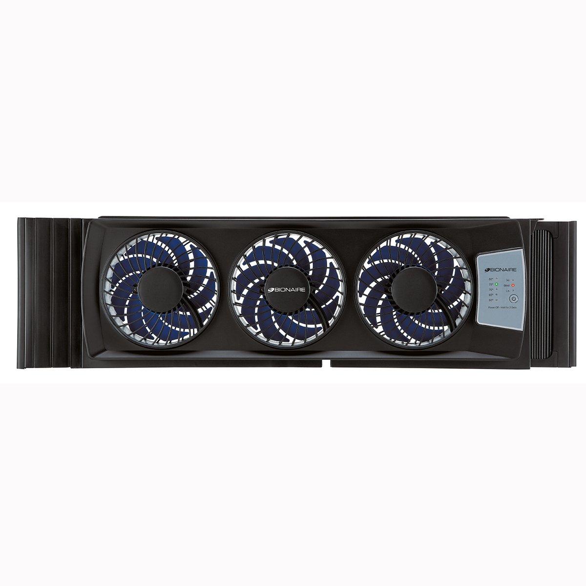 Bionaire Ultra Thin Digital Window Fan Black