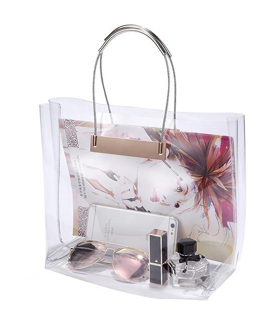 Amazon.com: Louise MAELYS PVC transparente bolsa con asa de ...