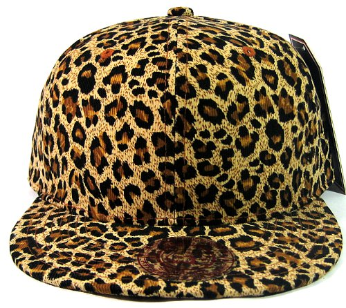 - All Over Cheetah / Leopard Print Snapback Hat Cap