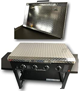 Griddle Cover 36 Inch: for Blackstone Griddle, Diamond Plate Aluminum Lid Storage Cover for 36