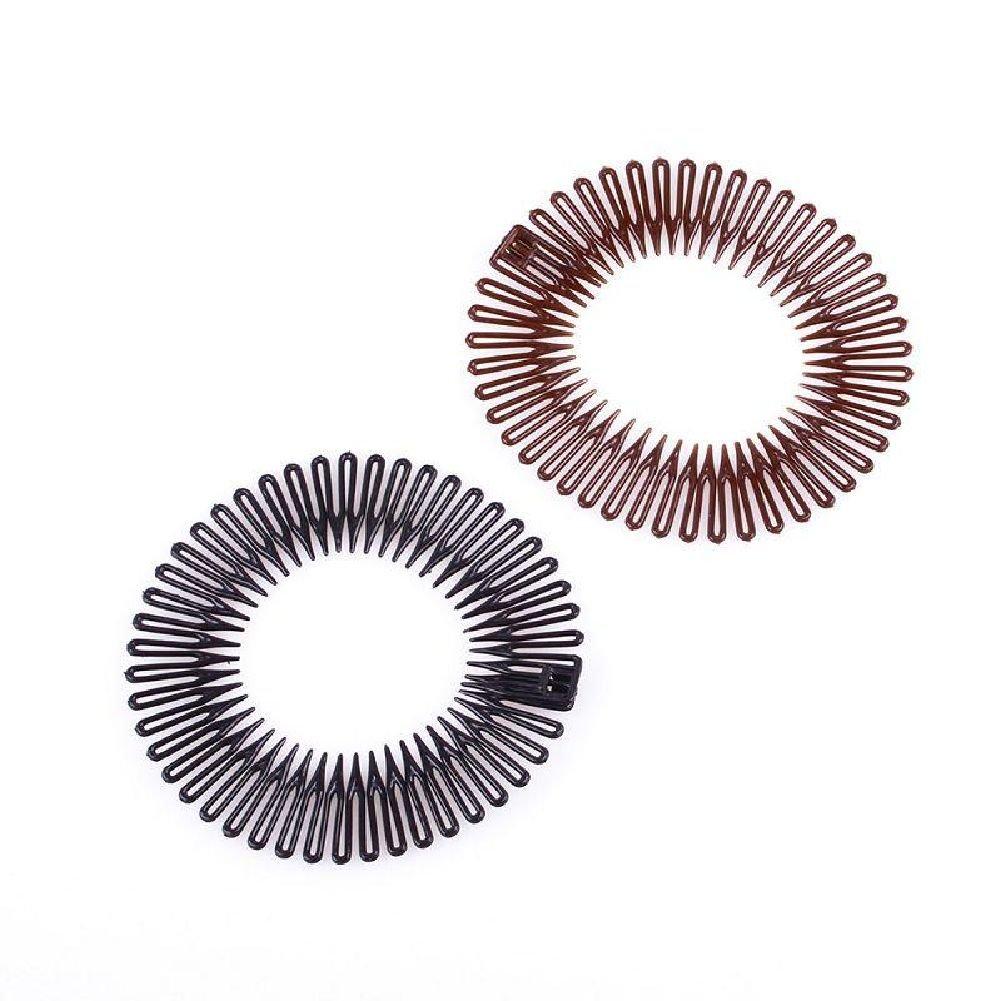 HITTIME Sports Plastic Stretchable Elastic Hair Band Full Circle Flexible Comb Teeth Headband Clip Accessories