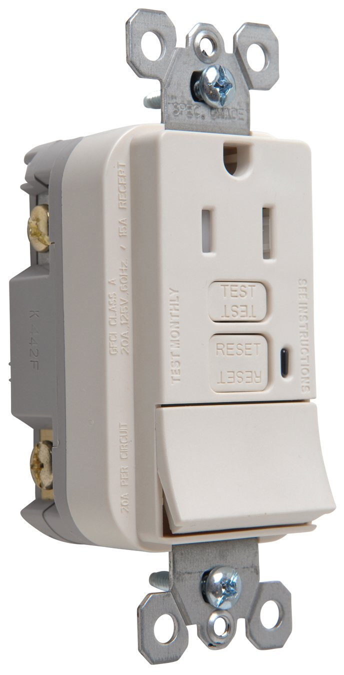 Legrand - Pass & Seymour 1597SWTTRLACCD4 Gfci Receptacle/Switch ...