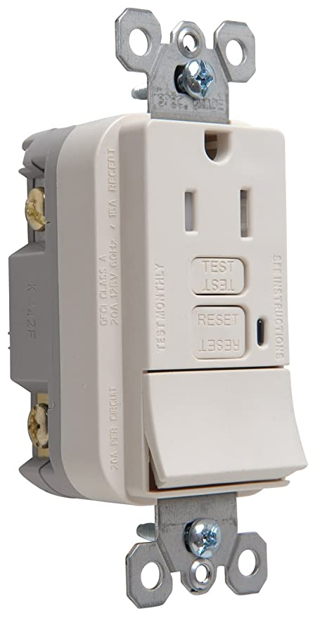 Legrand - P & Seymour 1597SWTTRLACCD4 Gfci Receptacle/Switch ... on