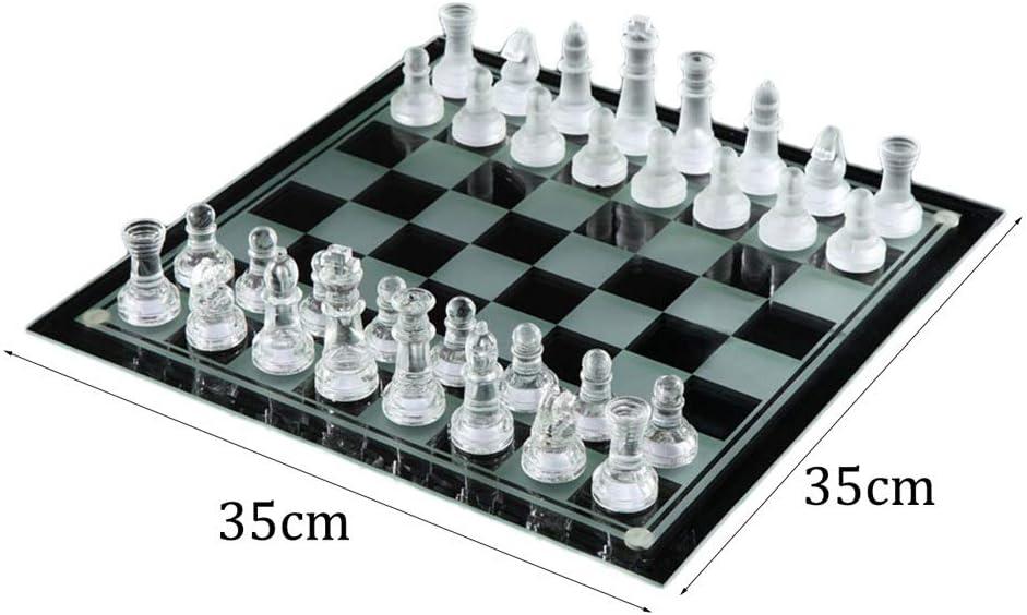 LOFAMI Juegos de Mesa Ajedrez Elegante Cristal de Cristal K9 Ajedrez de Lucha Embalaje Juego de ajedrez Juego de ajedrez de Damas Internacional Juego de ajedrez de Tablero Ajedrez: Amazon.es: Hogar