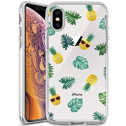 Amazon.com: Carcasa de TPU suave para iPhone XS, iPhone X ...