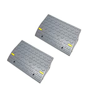 BISupply Curb Ramps for Driveway Ramps for Low Cars, Car Ramps, Motorcycle Ramp, Threshold Ramp, Loading Ramps 6in 2pk