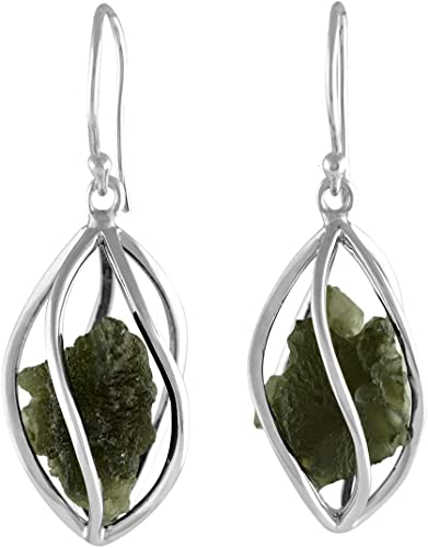 Sterling Silver Earring Twisted cage hook-in drop New