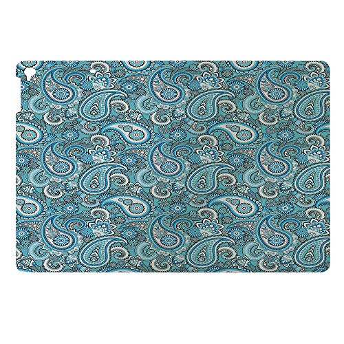 Compatible with 3D Printed iPad 9.7 Case,Slim Lightweight Anti-Scratch Shell PU Leather Stand Shell,Elements Paisley Persian Art Twisted Duotone Motifs