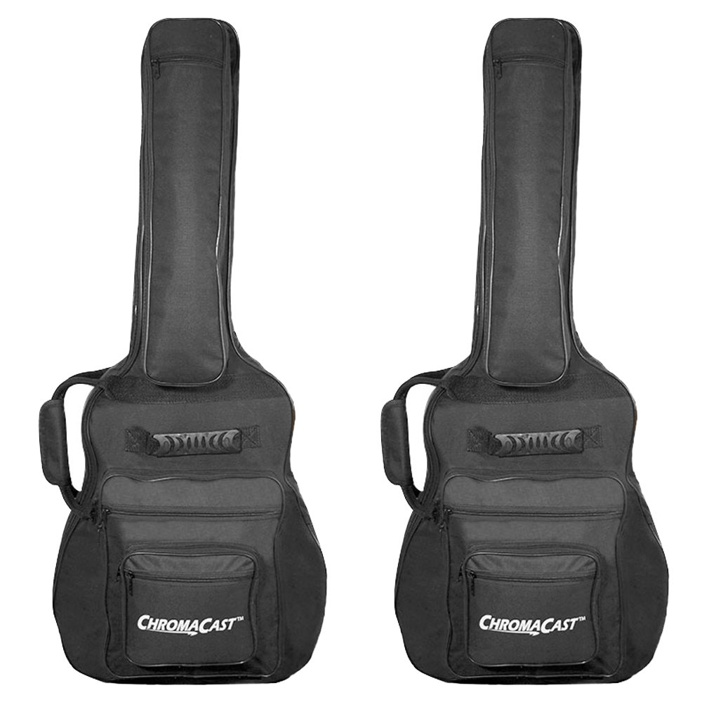 ChromaCast Acoustic Mini Jumbo Guitar Padded Gig Bag 2 Pack CC-AMJPB-BAG-2PK