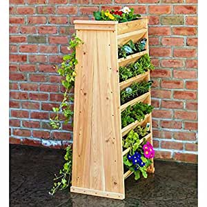 Vertical maceta fabricado de alta resistencia Natural para madera de cedro (