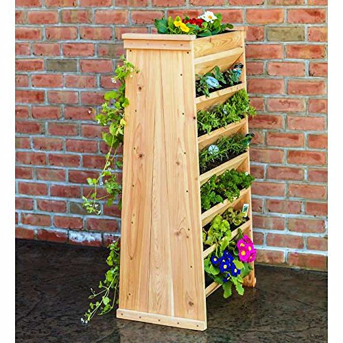 Vertical Planter Made from Heavy Duty Natural Cedar by Generic