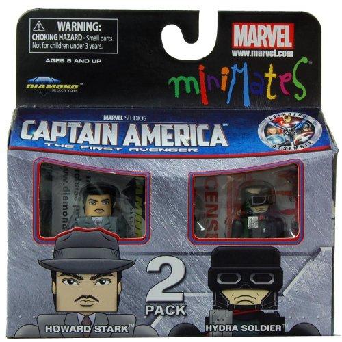 Minimates Marvel Comics Series 40 Captain America - Howard Stark and Hydra Soldier 2 pack Mini (Peggy Carter Captain America 2)