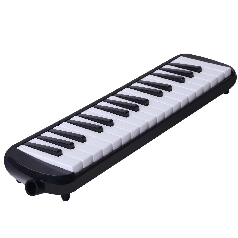 Melódica CAHAYA, Piano de Viento con 32 Teclas, Incluye Tubo de Soplado, Boquilla y Bolsa de Transporte (Negro): Amazon.es: Instrumentos musicales