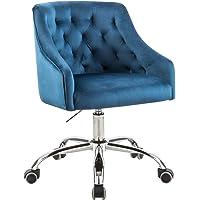 MOJAY Modern Home Office Chair, Velvet Swivel Armchair, Velvet Office Chair with Soft Seat, Adjustable Task Chair…