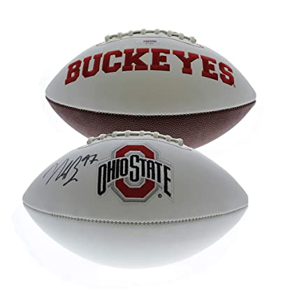 f7e9ac32c Nick Bosa Autographed Signed Ohio State Buckeyes White Panel Football - JSA  Certified Authentic