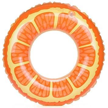 Candy Color Naranja Limón Fruta Agua de la piscina de flotador de natación Anillo inflable piscina