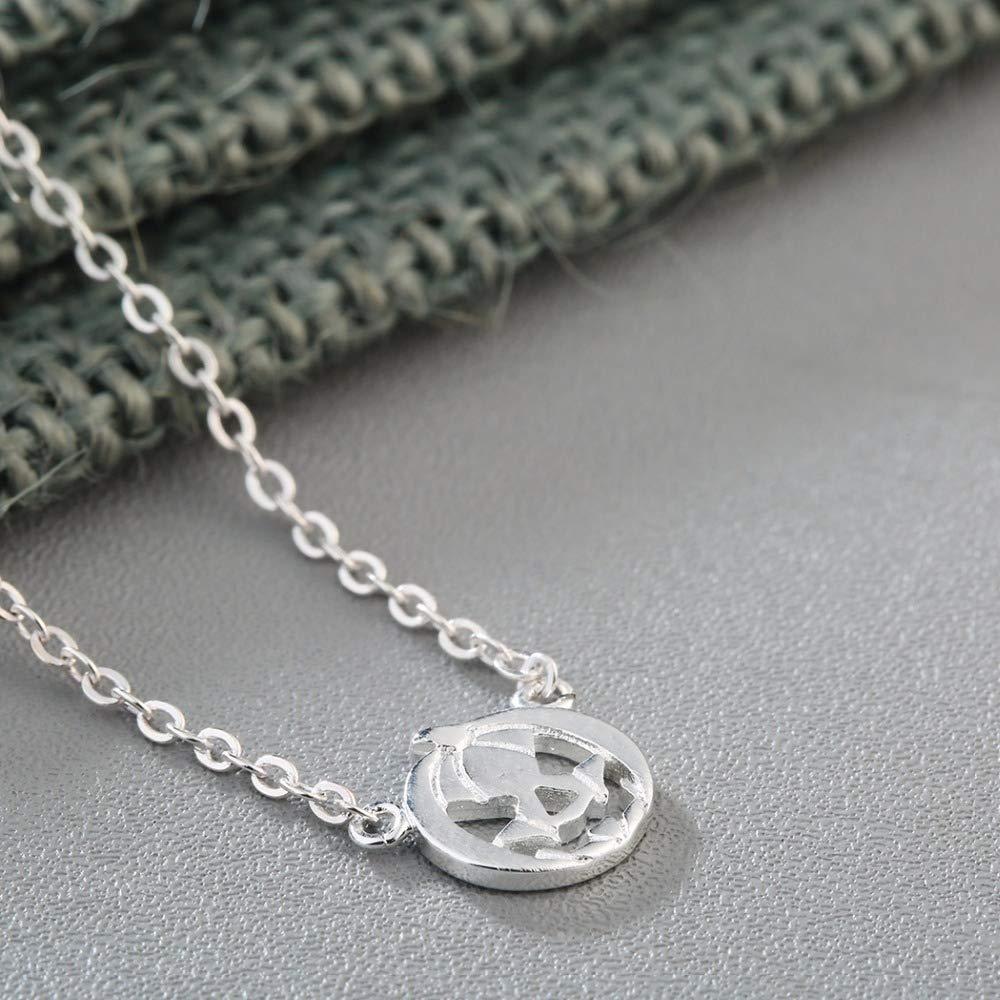 Davitu 925 Sterling Silver Necklace Jack O Lantern Pumpkin Necklace Women Jack-o-Lantern Halloween Jewelry Necklace