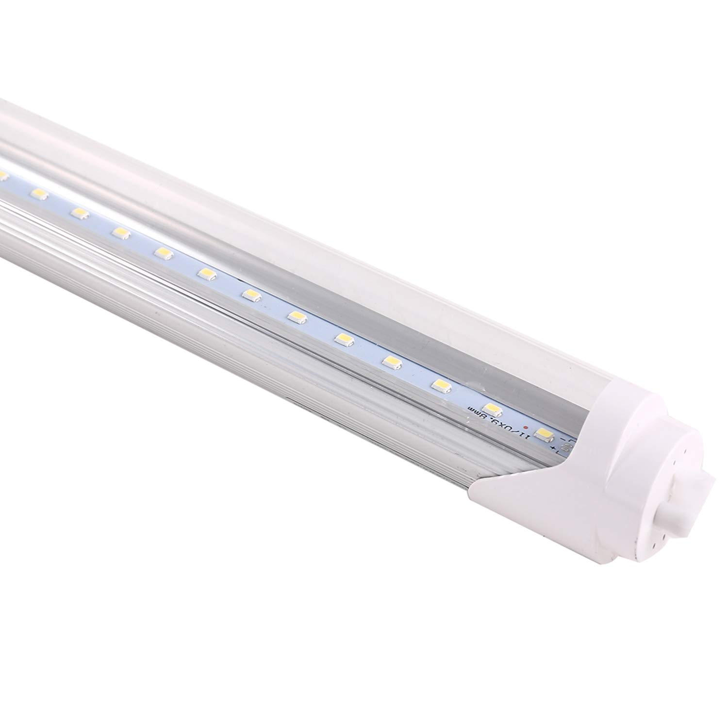 4000K 18W 25-Pack 85-265VAC G13 Lighting Fixtures Daylight 110V 277V Double-Ended Power 40W CFL Equivalent 4ft Clear Cover T8 LED Shop Light Tube Bypass Ballast