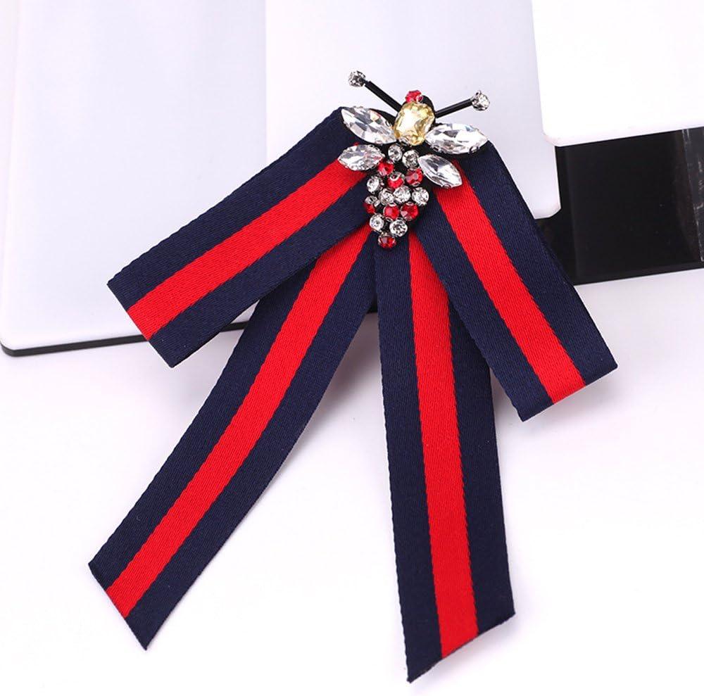 B Wcysin Fashion Ribbon Bow knot Brooch Pin Necktie Ribbon Pre-tied Neck Tie Wedding Party Bow Tie