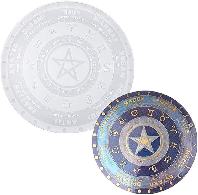 Tarot divination board Resin Mold-Silicone table mat mold-Zodiac constellation tray mold-Epoxy resin game board mold-Silicone coaster mold