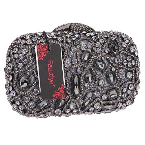 For Girls Gray Purse Clutch Wedding Bling For Evening Handbags Fawziya wAC08q6x